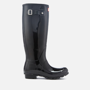Hunter Women's Original Tall Colour Haze Wellies - Black/Dark Slate