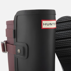 Hunter Women's Original Tall Refined Back Strap Wellies - Black/Dulse: Image 4