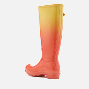 Hunter Women's Original Tall Colour Haze Wellies - Sunset/Hay: Image 3