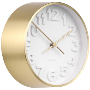 Karlsson Stout Wall Clock - Gold Plated