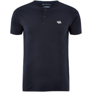 Le Shark Men's Cook Button Neck T-Shirt - True Navy