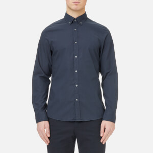 Michael Kors Men's Slim Garment Dye Shirt - Midnight