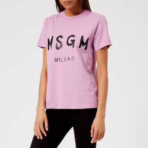 MSGM Women's Logo T-Shirt - Pink
