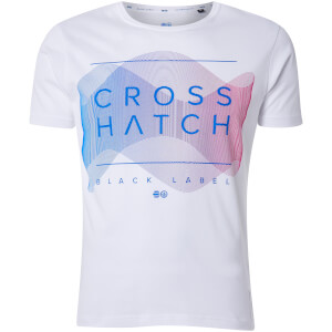 Crosshatch Men's Waveform T-Shirt - White