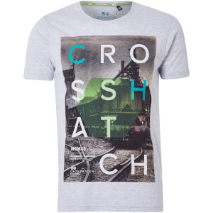 Camiseta Crosshatch Silverstreak - Hombre - Gris claro