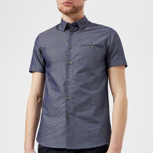 Ted Baker Men's Dotdots Short Sleeve Shirt - Navy