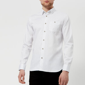Ted Baker Men's Skwere Long Sleeve Shirt - White