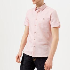 Ted Baker Men's Peeze Short Sleeve Shirt - Coral