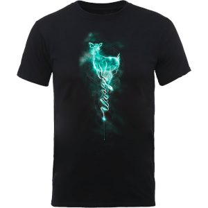 Harry Potter Doe Always Patronus Men's Black T-Shirt
