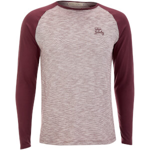 Tokyo Laundry Men's Harwood Long Sleeve Raglan Top - Wine Tasting