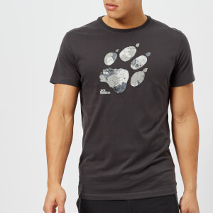 Jack Wolfskin Men's Marble Paw Short Sleeve T-Shirt - Phantom