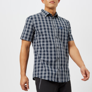 Jack Wolfskin Men's Hot Springs Short Sleeve Shirt - Night Blue Checks