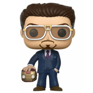 Spider-Man Homecoming Tony Stark Suit & Helmet EXC Pop! Vinyl Figure