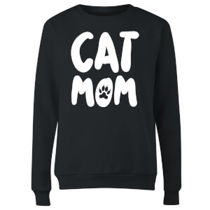 Cat Mom Women's Sweatshirt - Black