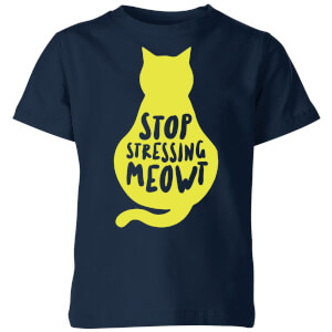 Stop Stressing Meowt Kids' T-Shirt - Navy
