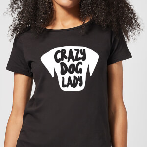 Crazy Dog Lady Women's T-Shirt - Black