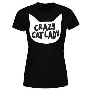 Crazy Cat Lady Women's T-Shirt - Black