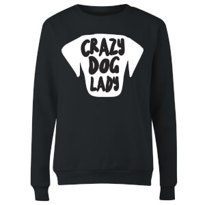 Crazy Dog Lady Women's Sweatshirt - Black
