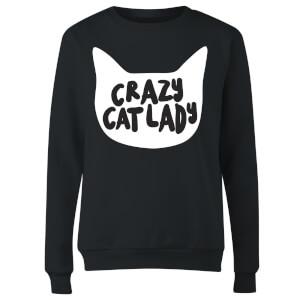 Crazy Cat Lady Women's Sweatshirt - Black