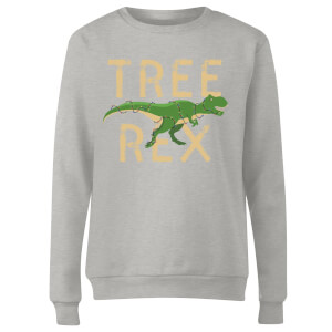 Tree Rex Women's Sweatshirt - Grey