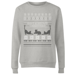 Meowy Christmas Women's Sweatshirt - Grey