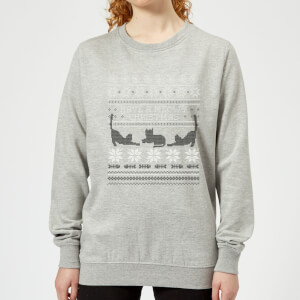 Meowy Christmas Women's Sweatshirt - Grey