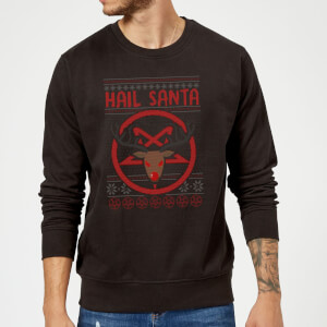 Hail Santa Sweatshirt - Black