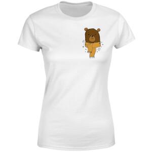 Christmas Bear Pocket Women's T-Shirt - White