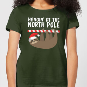 Hangin' At The North Pole Women's T-Shirt - Forest Green