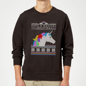Have a magical Christmas Fair isle Sweatshirt - Black