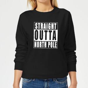 Straight Outta North Pole Women's Sweatshirt - Black