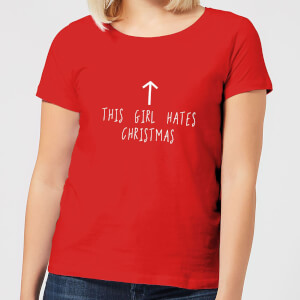 This Girl Hates Christmas Women's T-Shirt - Red