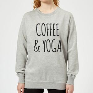 Coffee and Yoga Women's Sweatshirt - Grey