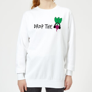 Drop the Beet Women's Sweatshirt - White