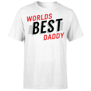 Worlds Best Daddy T-Shirt - White