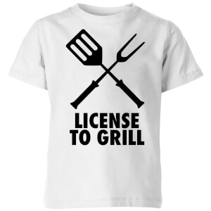 License to Grill Kids' T-Shirt - White