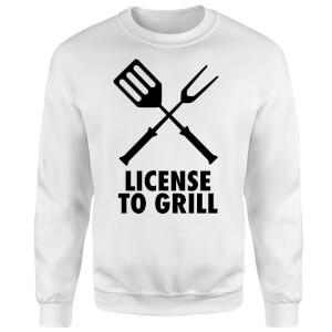 License to Grill Sweatshirt - White
