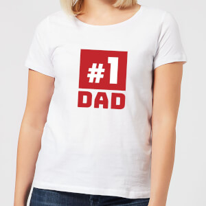Number 1 Dad Women's T-Shirt - White