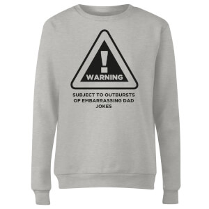 Warning Dad Jokes Women's Sweatshirt - Grey