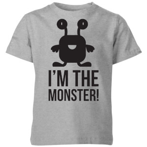 My Little Rascal I'm the Monster Kids' T-Shirt - Grey