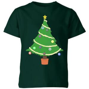 Buttons Tree Kids' T-Shirt - Forest Green
