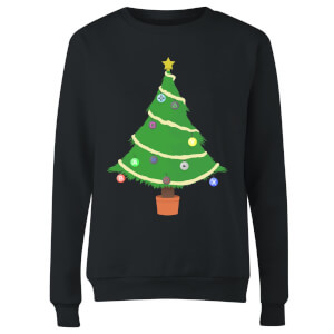 Buttons Tree Women's Sweatshirt - Black