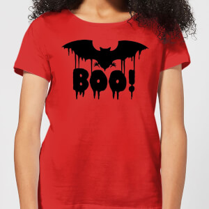 Boo Bat Women's T-Shirt - Red