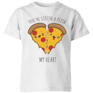 My Little Rascal A Pizza My Heart Kids' T-Shirt - White