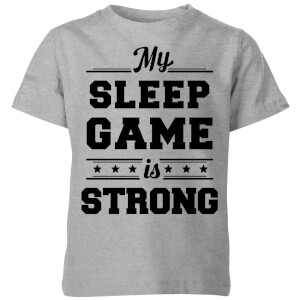 My Little Rascal My Sleep Game is Strong Kids' T-Shirt - Grey