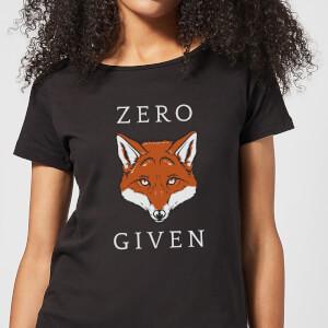 Zero Fox Given Women's T-Shirt - Black