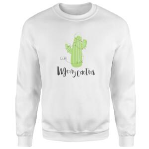 Merry Cactus Sweatshirt - White