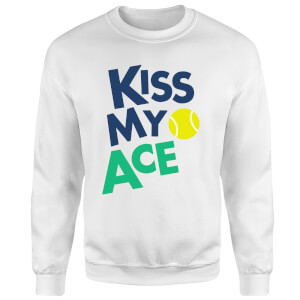 Kiss my Ace Sweatshirt - White