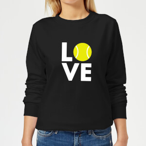 Love Tennis Women's Sweatshirt - Black