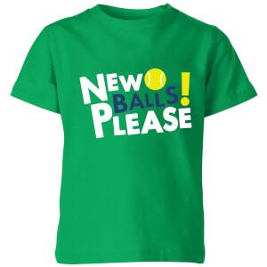 New Balls Please Kids' T-Shirt - Kelly Green